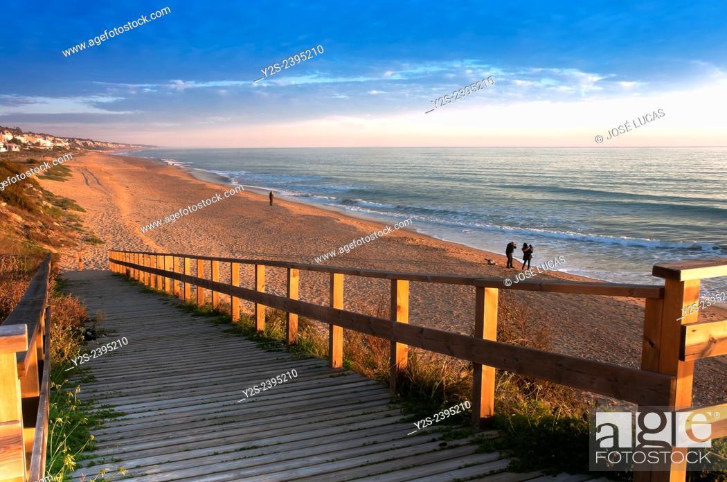 Stock Photo: Mazagon beach, Mazagon, Huelva province, Region of Andalusia, Spain, Europe.