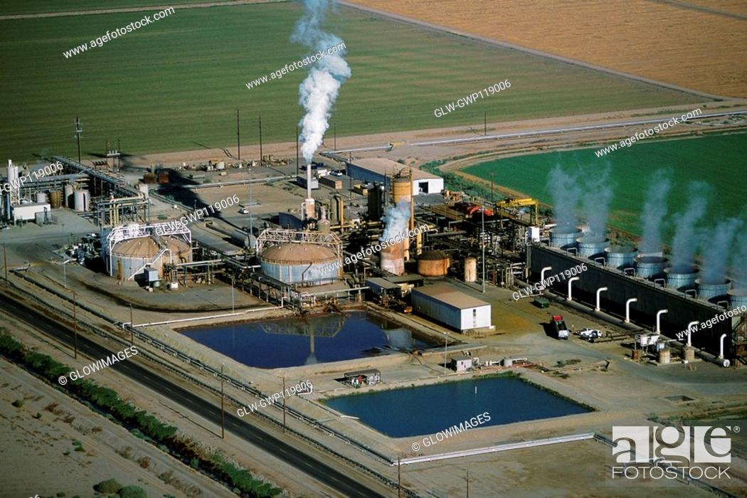 Stock Photo: Geothermal power plant, Calipatria, California.