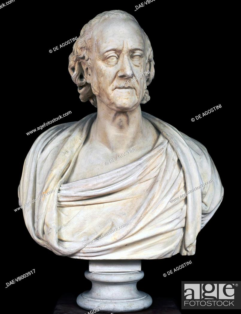Imagen: Bust of Alessandro Volta (Como, 1745-Camnago Volta, 1827), Italian physicist, sculpture by Giovanni Battista Comolli (1775-1830), 1828, plaster, 90x67x37 cm.