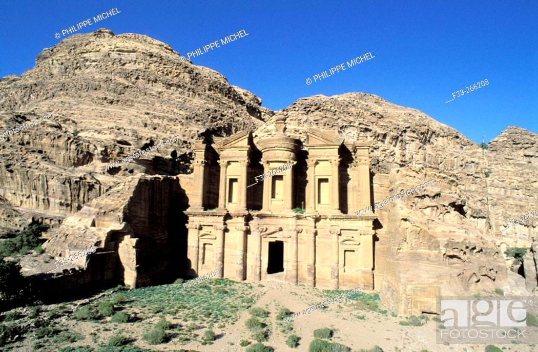 Stock Photo: Temple called 'The Monastery'. Petra. Jordan.