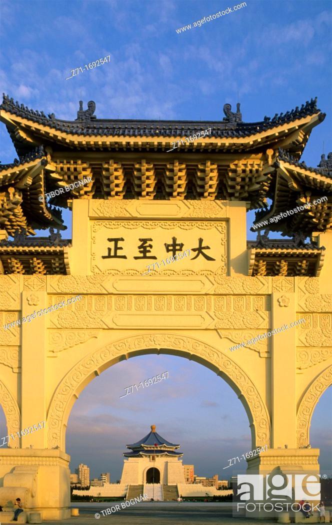 Stock Photo: Taiwan Taipei Chiang Kai Shek memorial.