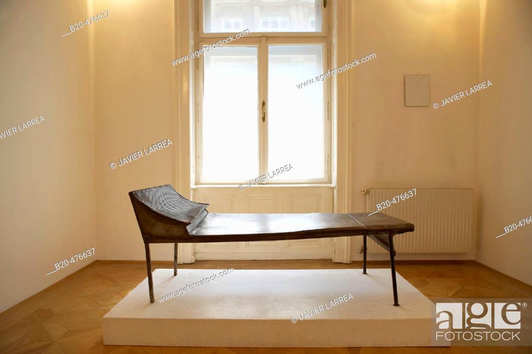 Stock Photo: Divan, sculpture in Sigmund Freud Museum, Vienna. Austria.