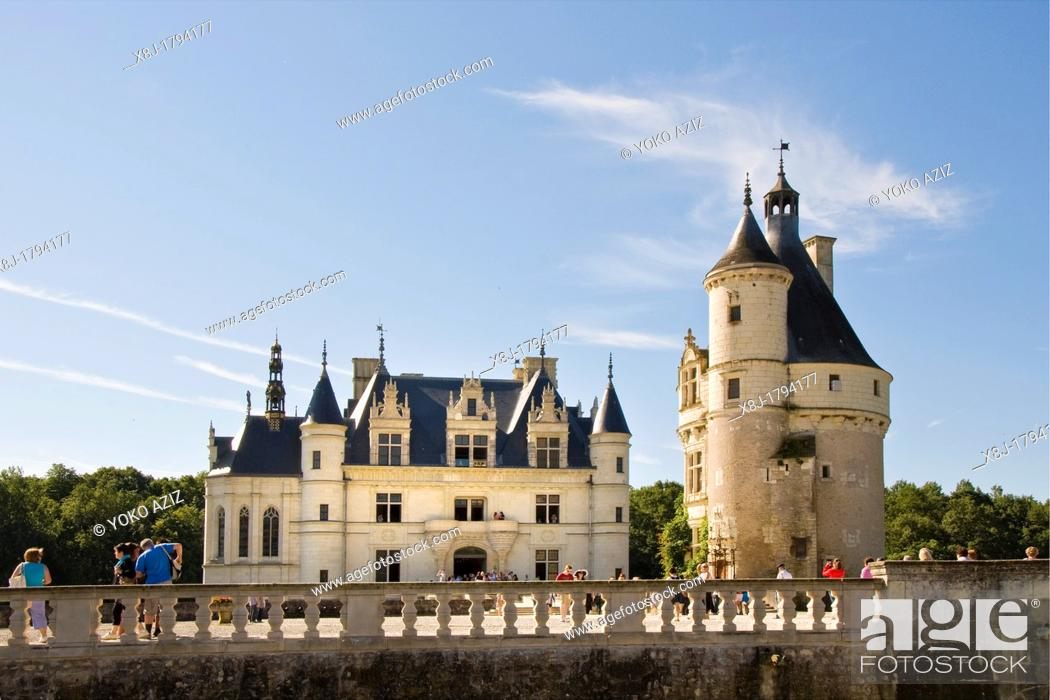 Stock Photo: France, Loire valley, Chenonceau.