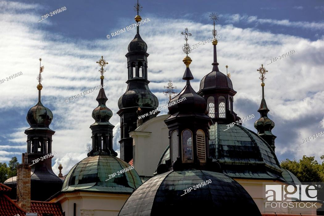 Stock Photo: Baroque Pilgrimage Church of the Assumption, Klokoty, Tabor, South Bohemia, Czech Republic.