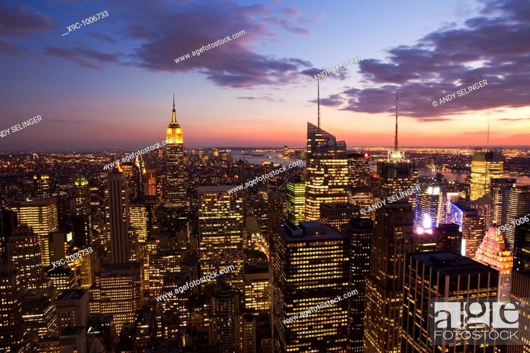 Stock Photo: New York City at Dusk.