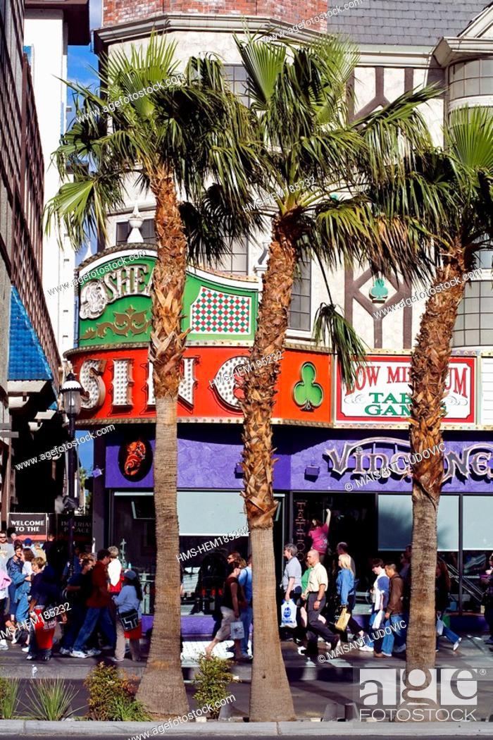 Stock Photo: United States, Nevada, Las Vegas, The Strip, O' Sheas Casino, façade.