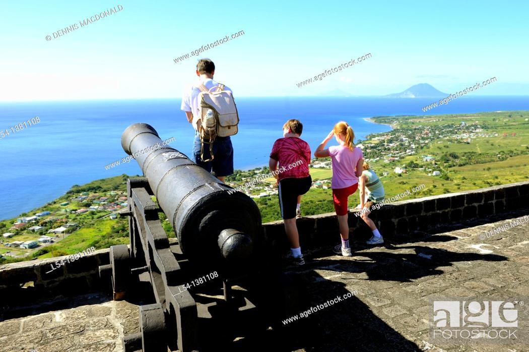 Stock Photo: Brimstone Hll Fortress National Park Basseterre St  Kitts Caribbean, Island Cruise NCL.