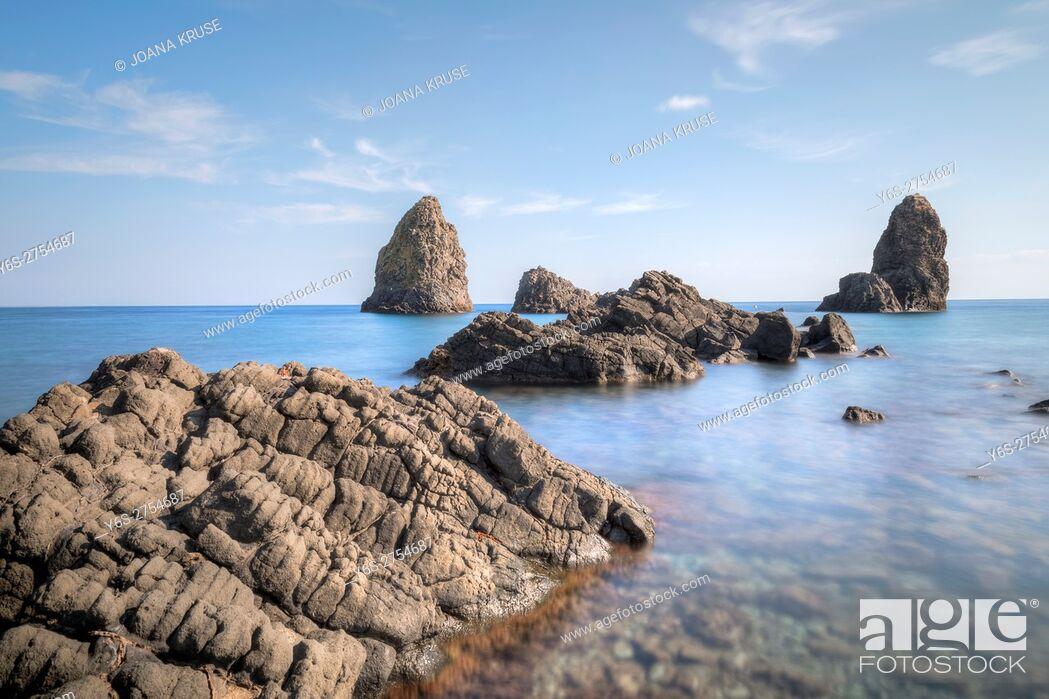 Stock Photo: Aci Trezza, Riviera dei Ciclopi, Catania, Sicily, Italy.