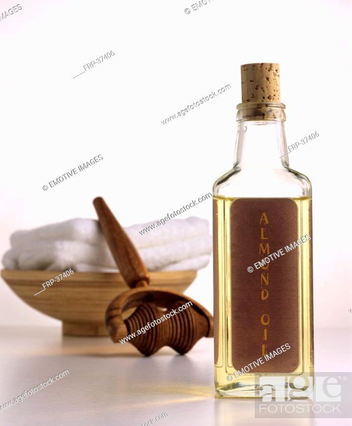 Stock Photo: Almond oil.