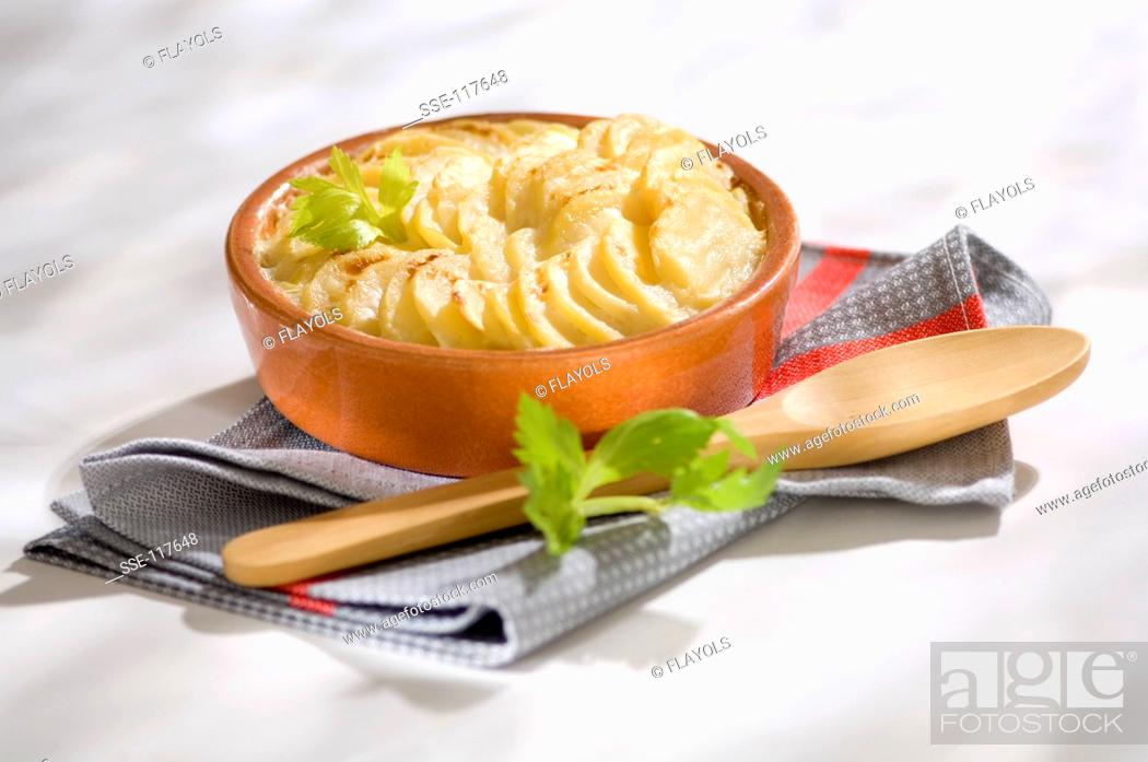 Stock Photo: Gratin dauphinois.