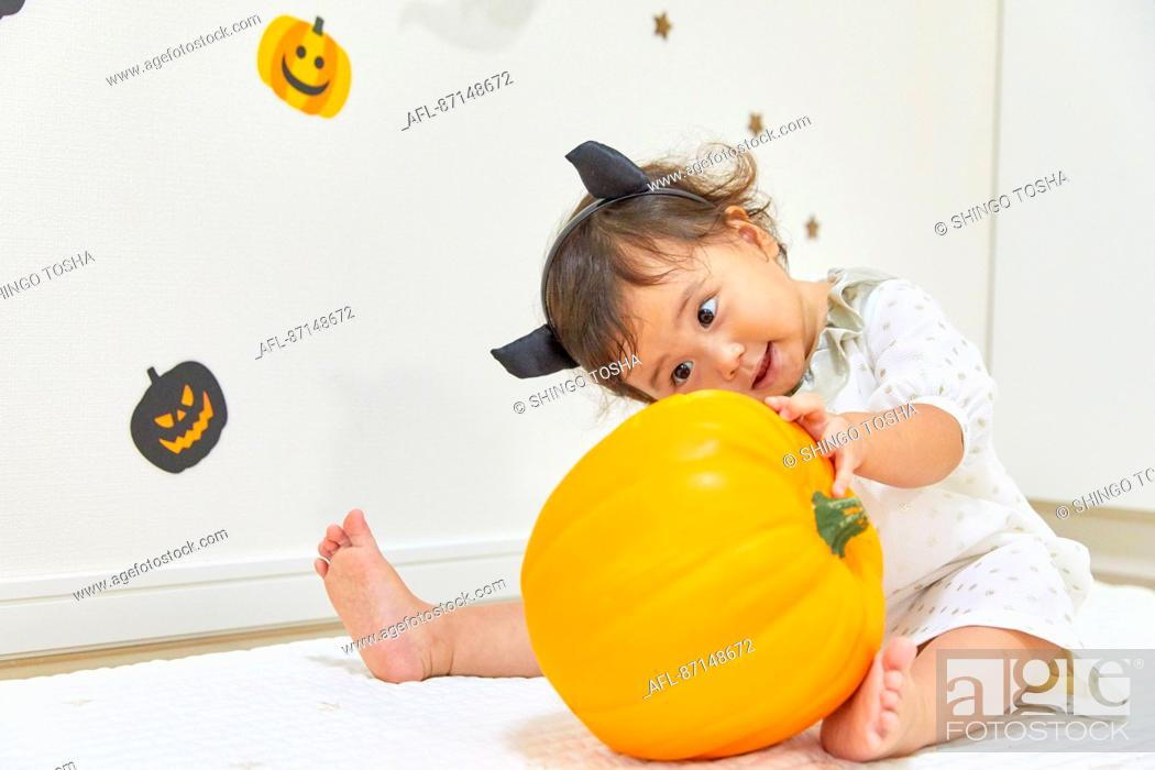 Stock Photo: Japanese child dressed for Halloween.