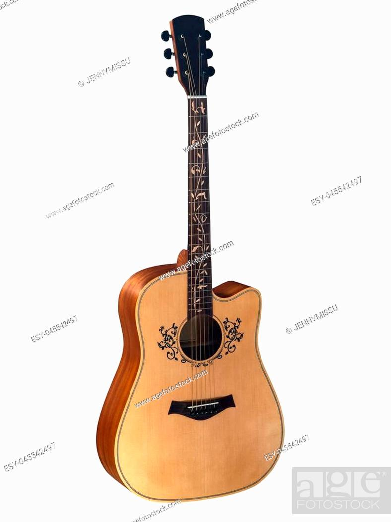 Stock Photo: acoustic, art, background, black, blues, board, body, brown, classic, classical, clipping, close, closeup, detail, ebony, electric, equipment, fingerboard.