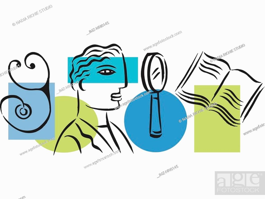 Stock Photo: Illustration of a medical student.