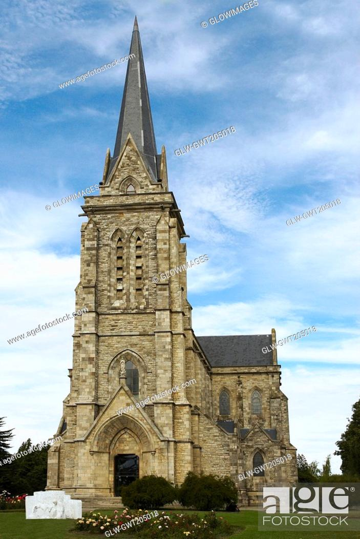Photo de stock: Low angle view of a church, Church of Our Lady Nahuel Huapi, San Carlos De Bariloche, Argentina.