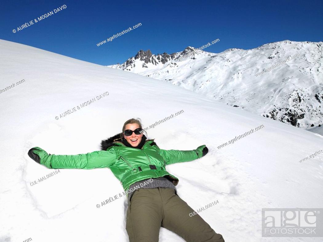 Stock Photo: Snow angel.