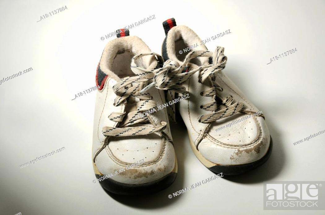 Stock Photo: Children's shoes.
