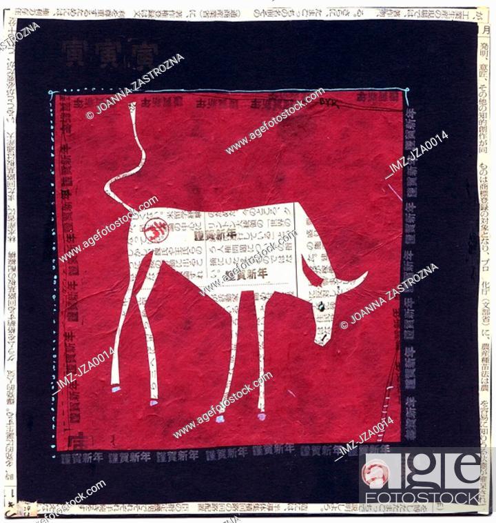 Stock Photo: Artwork representing the Taurus zodiac sign.