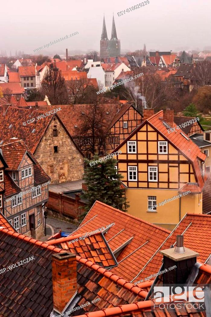 Stock Photo: quedlinburg old town.