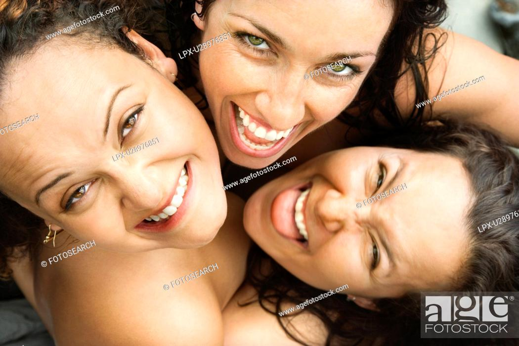 Mature women smiling nude Three Nude Brunette Caucasian Mid Adult Women Embracing Each Other Looking Up At Viewer And Smiling Stock Photo Picture And Royalty Free Image Pic Lpx U28976851 Agefotostock