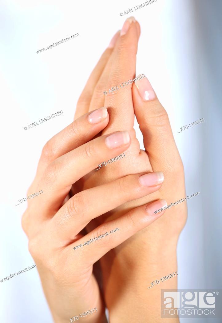 Stock Photo: beauty hands.