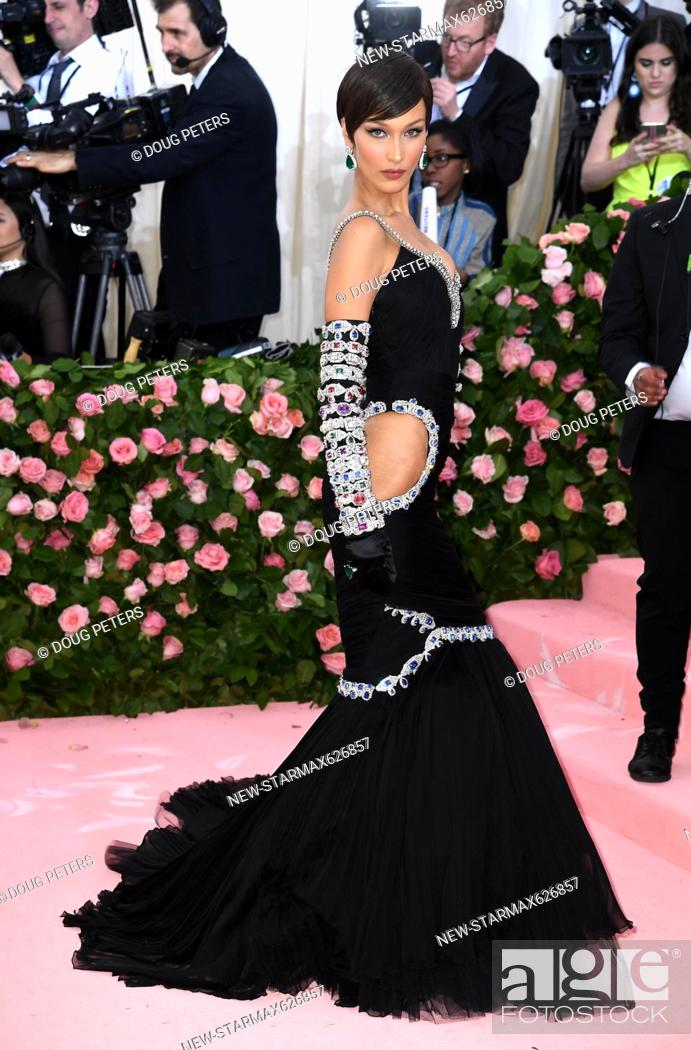 Stock Photo: Photo by: Doug Peters/starmaxinc.com.STAR MAX.©2019.ALL RIGHTS RESERVED..5/6/19.Bella Hadid at the 2019 Costume Institute Benefit Gala celebrating the opening.