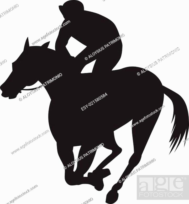 Horse Racing Silhouette Stock Photo Picture And Low Budget Royalty Free Image Pic Esy 021580584 Agefotostock