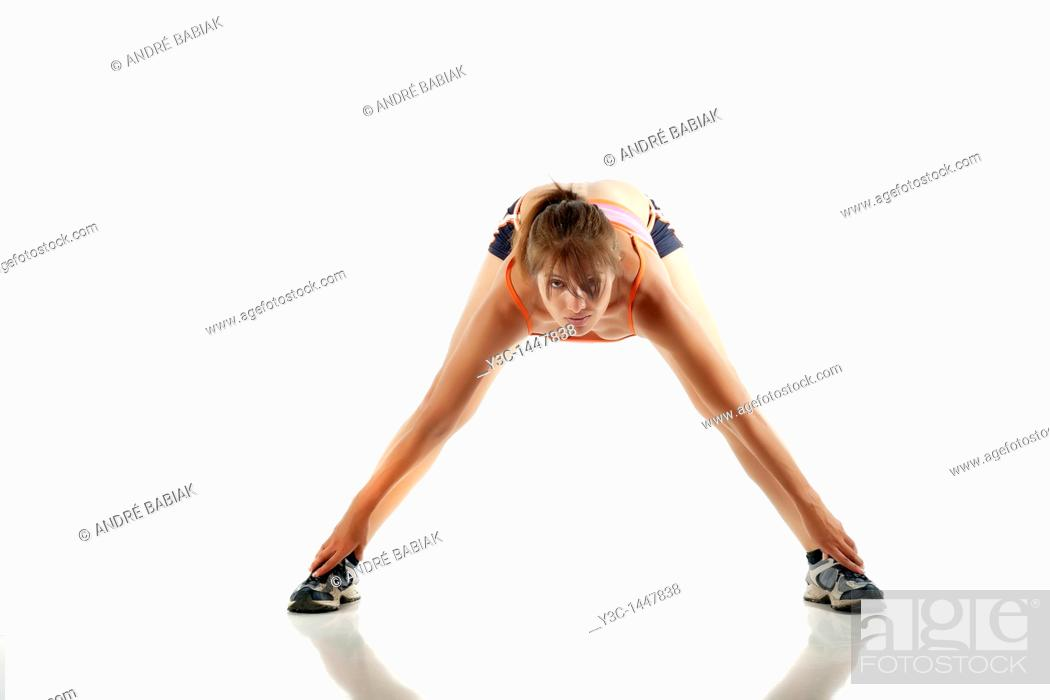 Stock Photo: Fitness Woman practicing.