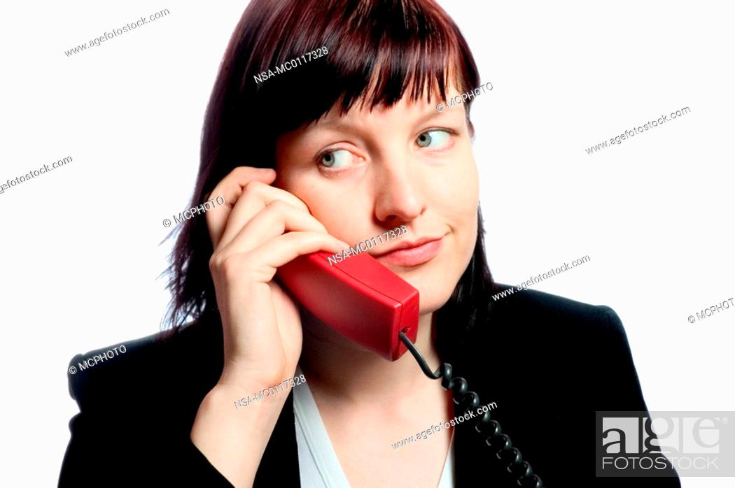 Stock Photo: woman phoning.