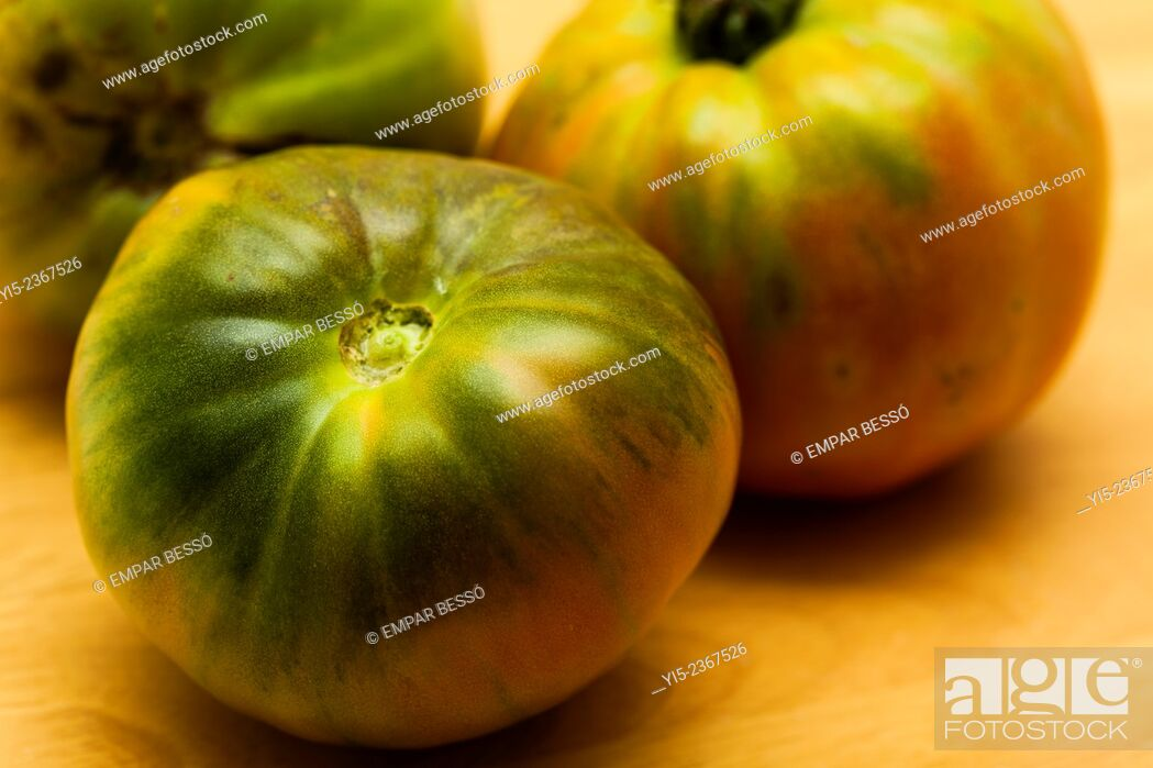 Stock Photo: Close up of tomatoes.