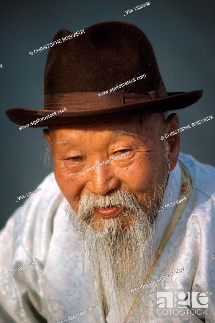 Stock Photo: Elder, Kongju region, South Korea.