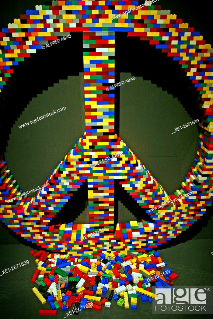 Symbol Of Peace And Love Sculpture Lego Pieces The Art Of The