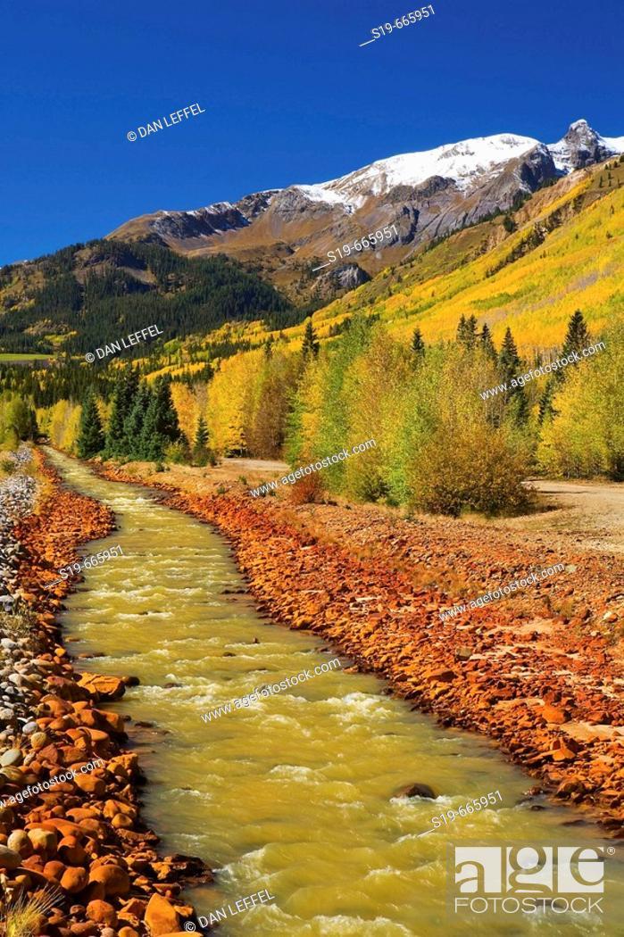 Stock Photo: Ouray, Million Dollar Highway, Colorado, USA.