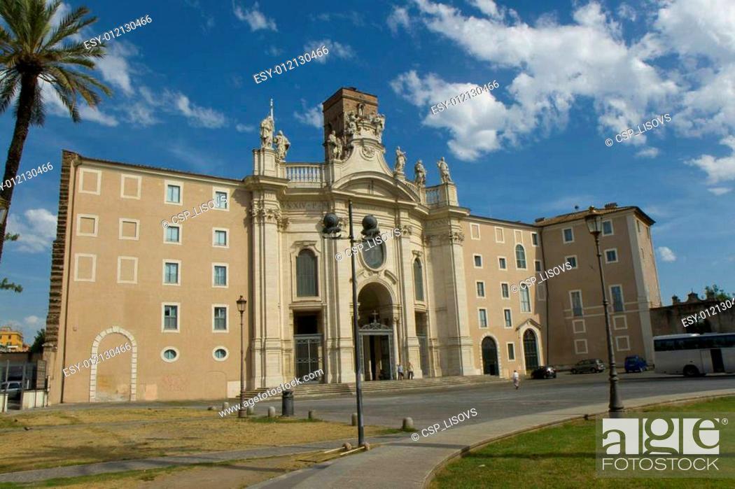 Stock Photo: Church Santa Croce in Gerusalemme.