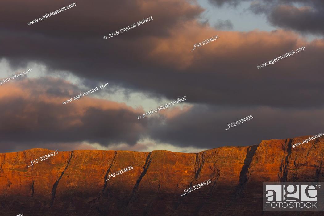 Stock Photo: Riscos de Famara, Lanzarote Island, Canary Islands, Spain, Europe.