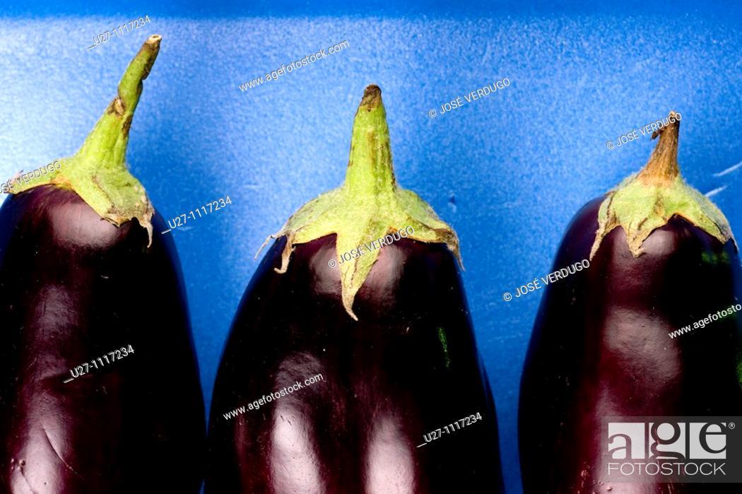 Stock Photo: Eggplant.