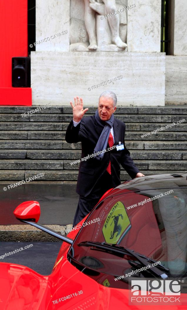 Ferrari Company Debuts On Milan Stock Exchange Piero Ferrari Son Of Enzo Ferrari During The Stock Photo Picture And Rights Managed Image Pic Tie Fc040116 30 Agefotostock