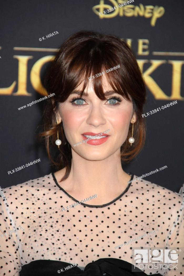 "Stock Photo: Zooey Deschanel 07/09/2019 """"The Lion King"""" Premiere held at the Dolby Theatre in Hollywood, CA. Photo by: K. Hirata / HNW/ PictureLux."