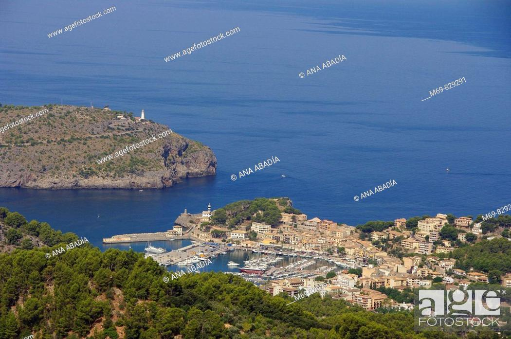 Stock Photo: Port de Sóller, Majorca, Balearic Islands, Spain.