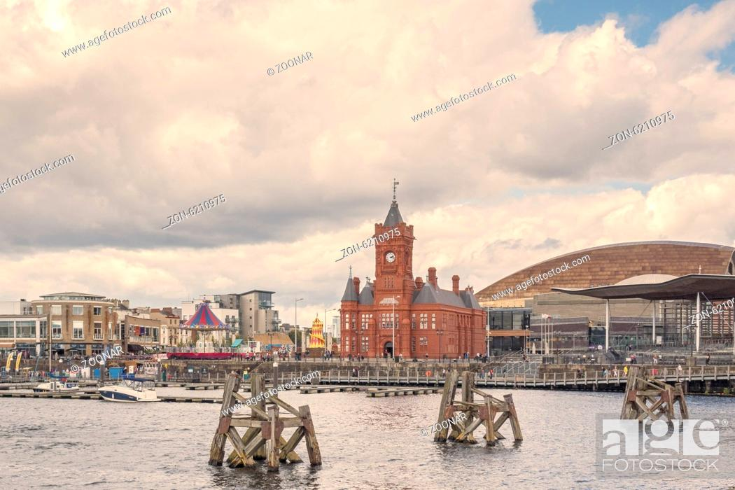 Stock Photo: National Assembly For Wales Buildings Cardiff Bay.