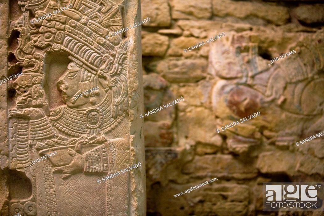 Stock Photo: The Río Usumacinta Valley, Yaxchilán Archaeological Site, Chiapas, México.