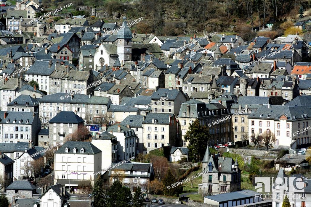 Stock Photo: Town of Murat, Cantal, France, Europe.