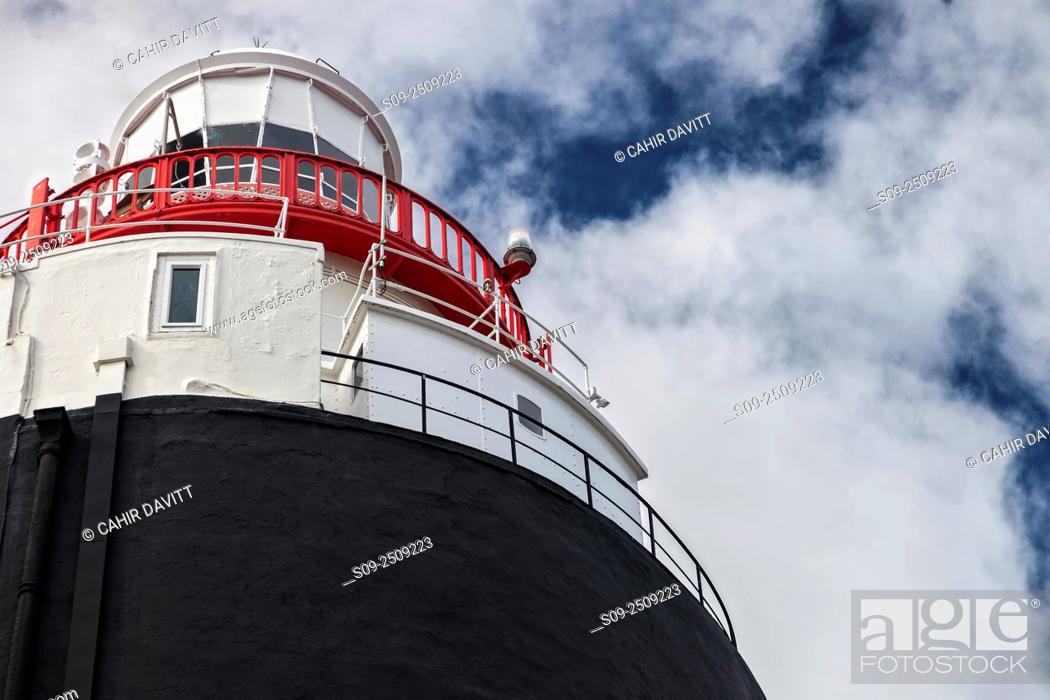 Stock Photo: Architectural detail of the Hook Lighthouse, Hook Head, Churchtown, Co. Wexford, Ireland.