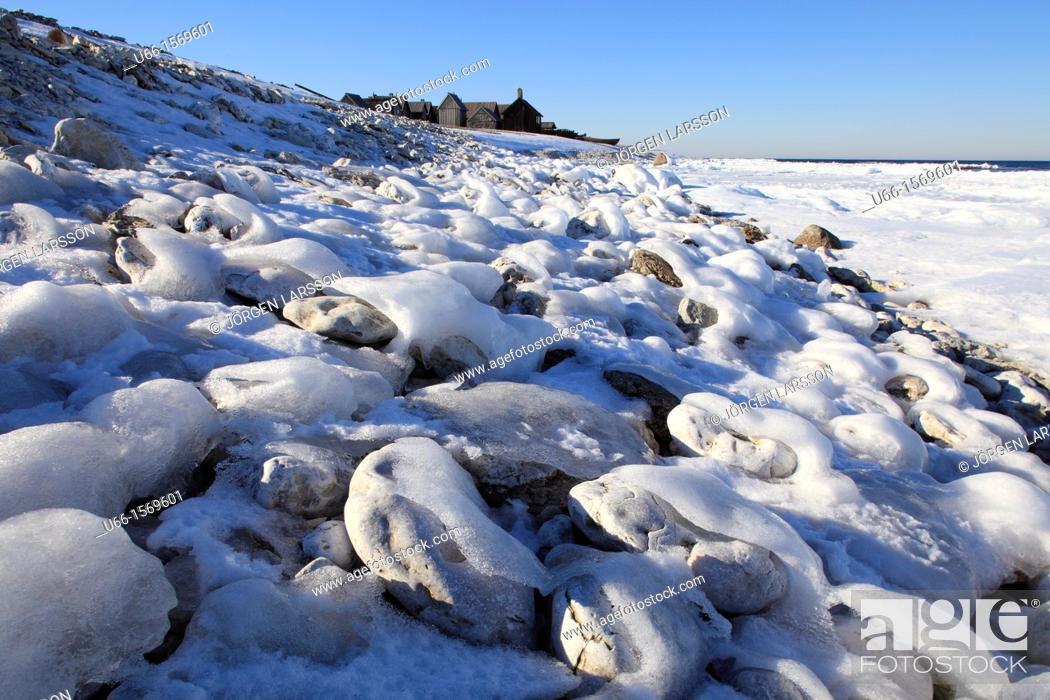 Stock Photo: Helgumannen Fårö Gotland Sweden.