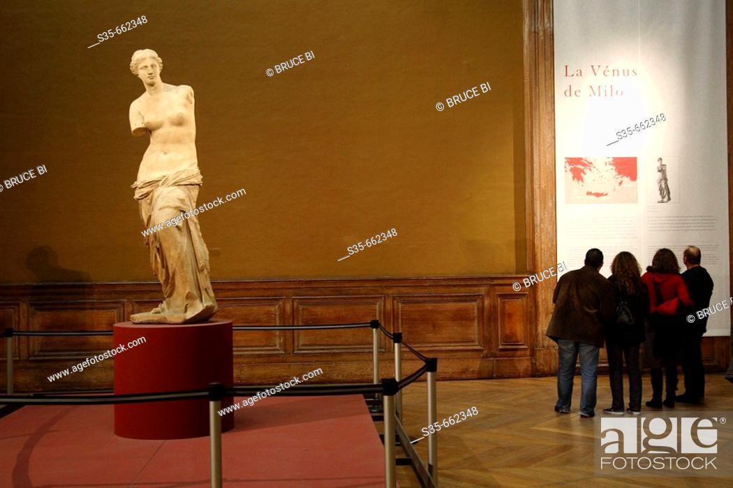 Stock Photo: Venus de Milo in Musee du Louvre. Paris. France.