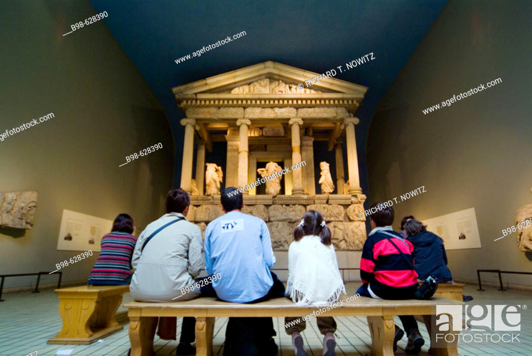 Stock Photo: Exhibit on Ancient Greece in the British Museum in London. England, UK.