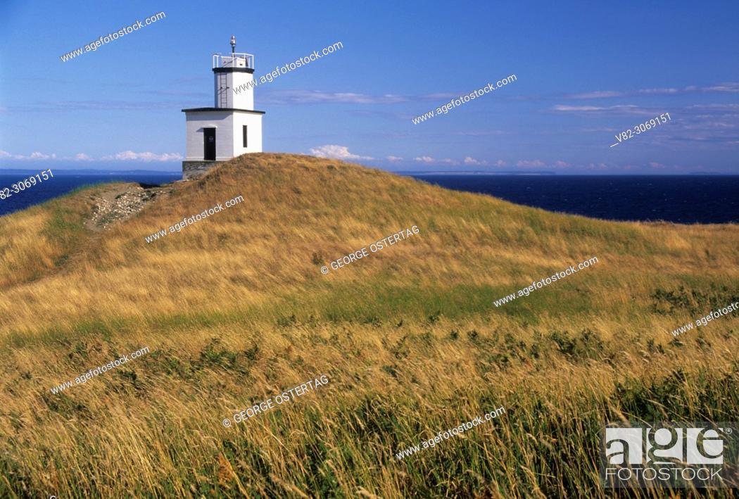 Stock Photo: Cattle Point Lighthouse, Cattle Point Natural Conservation Area, San Juan Island, Washington.
