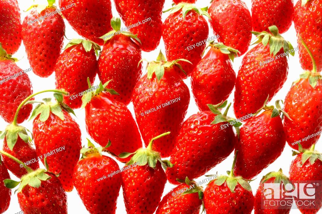 Stock Photo: Strawberry pattern.