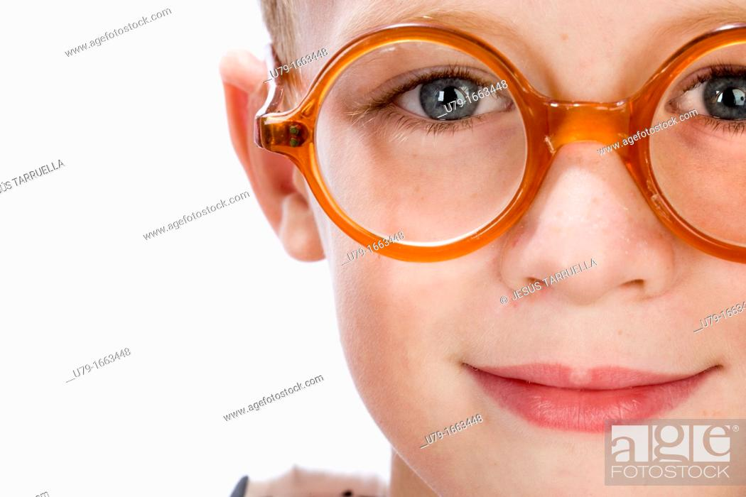 Stock Photo: Boy portrait, Spain.