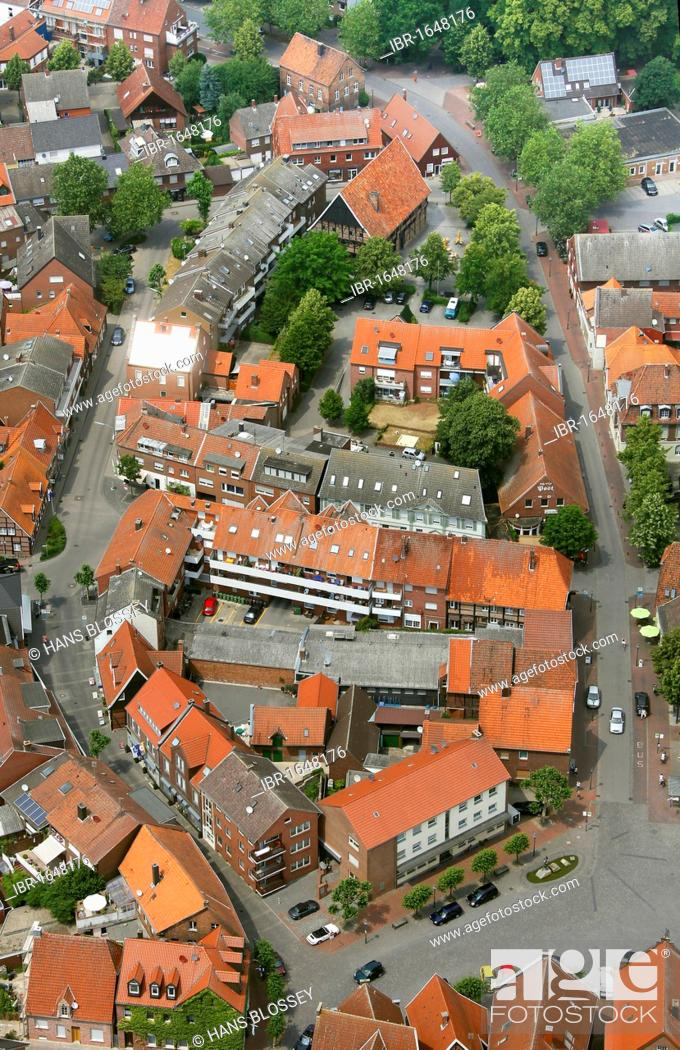 Imagen: Aerial view, Drensteinfurt, Muensterland, North Rhine-Westphalia, Germany, Europe.