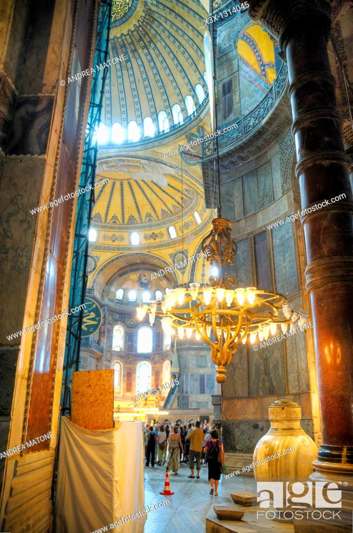 Stock Photo: Inside Hagia Sophia, Istanbul, Turkey.